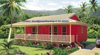 China Bungalows home Moistureproof da praia, bungalow de madeira à prova de fogo da casa fornecedor