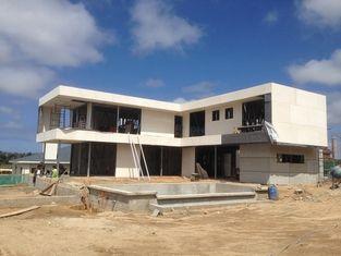 China 2 a história, telhado liso, Uruguai pré-fabricou a casa de aço clara, casas de armação de aço claras fornecedor