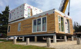 China Construções modulares casa de campo clara pré-fabricada do aço do calibre do andar da casa dois fornecedor