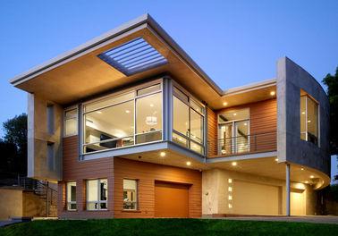 Casa de aço pré-fabricada luxuoso/casa etc. do metal da casa pré-fabricada armação de aço da luz