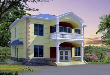 China Casa de aço da casa pré-fabricada do certificado do CE, casa de campo clara da casa da construção de aço distribuidor