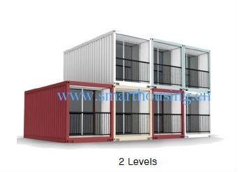 China As casas modulares do recipiente da casa pré-fabricada do ISO 40HQ, contentores da prova da água dirigem distribuidor