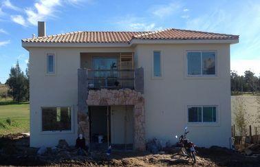 Monte rapidamente a casa de campo pré-fabricada da casa, casa de aço da casa pré-fabricada de dois assoalhos com vida longa