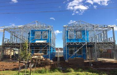 A casa de campo clara da casa pré-fabricada da armação de aço/monta rapidamente casas da casa pré-fabricada/casa de campo armação de aço de Lignt