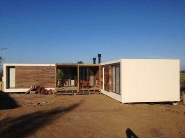 As casas pré-fabricadas modernas da construção de aço, casa do bungalow de Uruguai planeiam