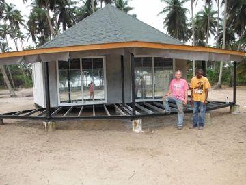 Bungalow novo de Bali da casa pré-fabricada do projeto, bungalows de Overwater para o beira-mar