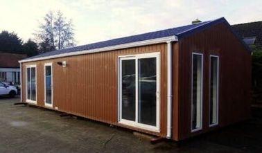 O telhado liso moderno pré-fabricou a casa, casas Pre-construídas torna a roulotte, Bélgica exportou roulottes