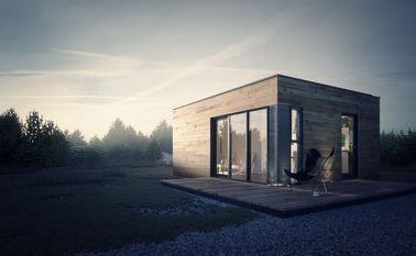 Estúdio pré-fabricado do jardim da casa pré-fabricada da casa com armazenamento claro da armação de aço